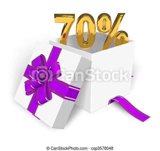 70% discount concept  - csp3578048