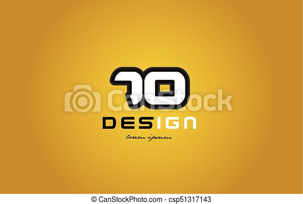 70 number numeral digit white on yellow background - csp51317143