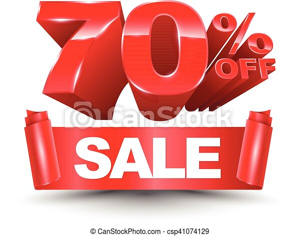 70 percent off sale red ribbon - csp41074129