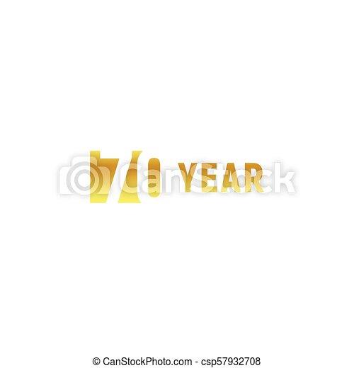 70 Year Happy Birthday Gold Logo On White Background Corporate