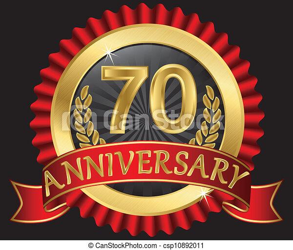 70 years anniversary golden - csp10892011