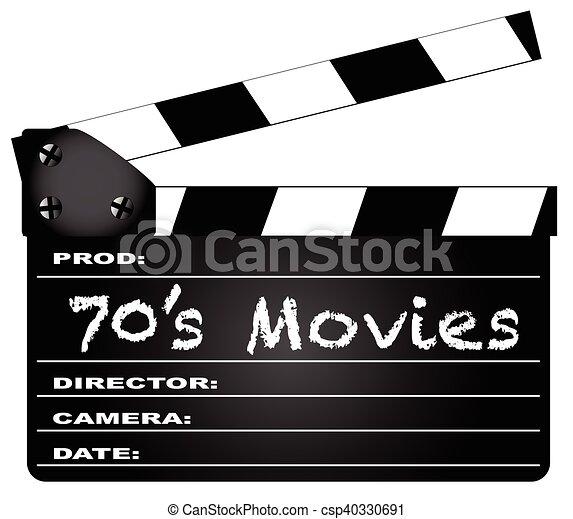 70s Movies Clapperboard A Typical Movie With The
