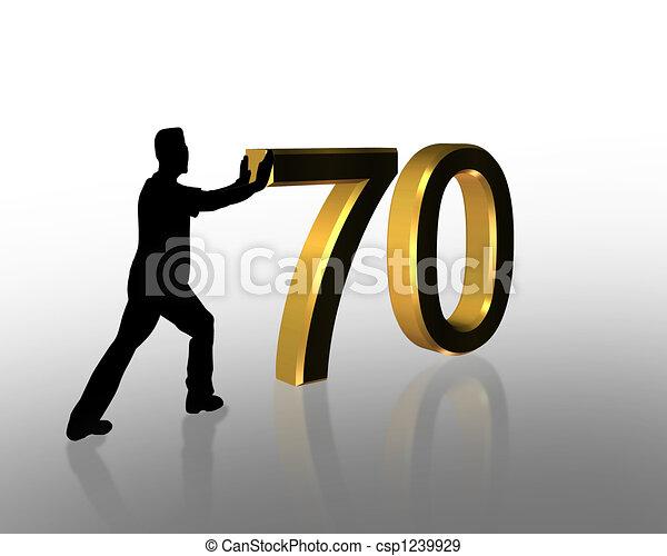 70th Birthday 3d Invitation