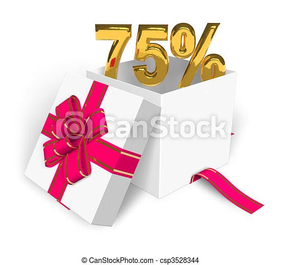 75% discount concept - csp3528344