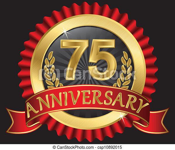 75 years anniversary golden - csp10892015