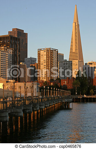 7th Street Pier and Transamerica Building - csp0465876