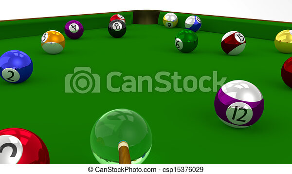 Pool Table Balls Scattered 8 ball pool 3d game in...