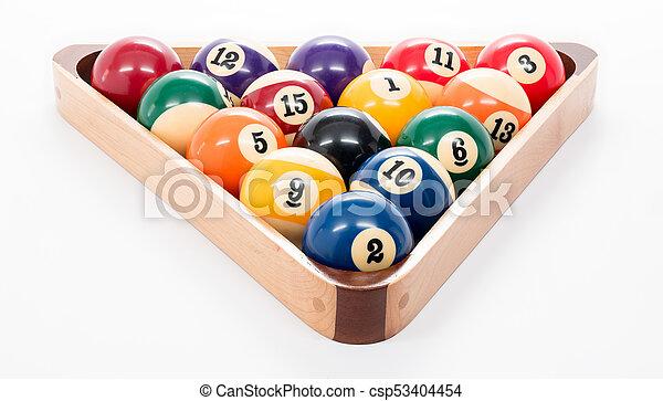 8 Ball Pool Game Rack Of Balls