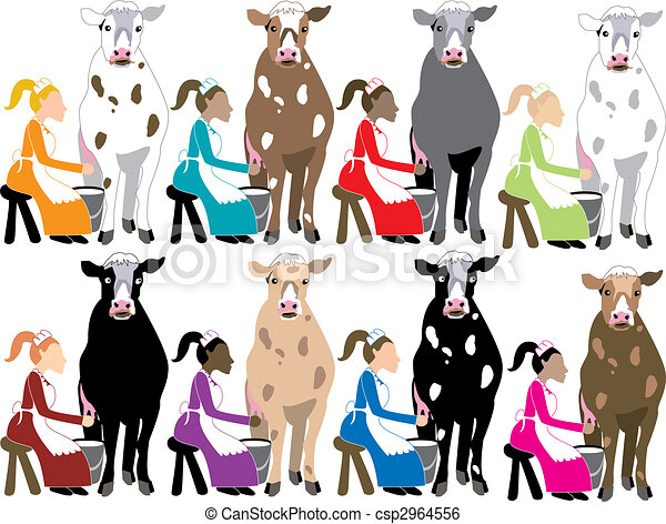8 ladies milking the 12 days of christmas vector clip art rh canstockphoto com 12 days of christmas clipart free