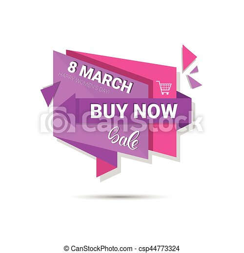 8 March International Women Day Sale Shopping Discount - csp44773324