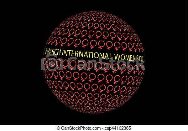 8 March International Women's Day - csp44102365