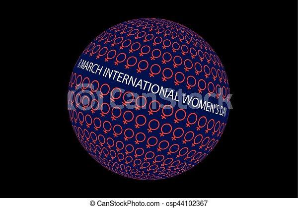 8 March International Women's Day - csp44102367