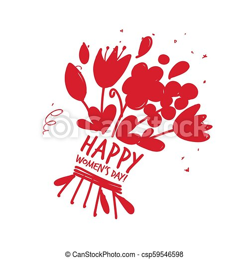 8 march, international women's day. Floral gift for your design - csp59546598