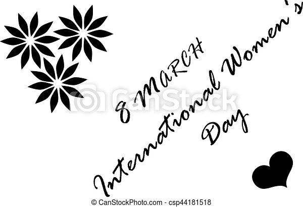 8 March International Women's Day - csp44181518