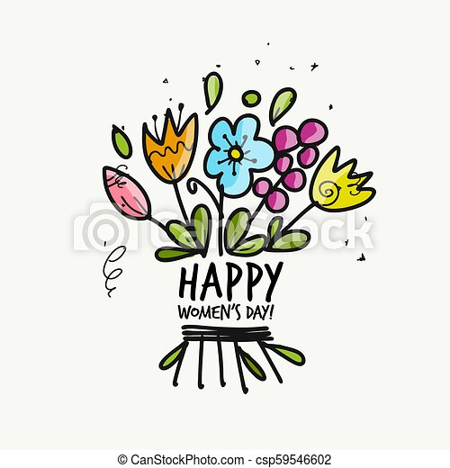 8 march, international women's day. Floral gift for your design - csp59546602