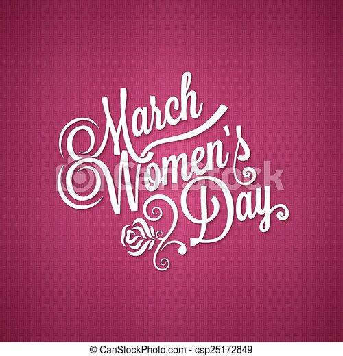 8 march women day vintage background - csp25172849