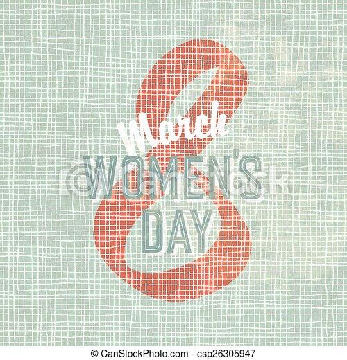 8 March, Women's Day Background - csp26305947