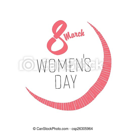 8 March, Women's Day Card - csp26305964