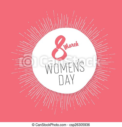 8 March, Women's Day Card - csp26305936