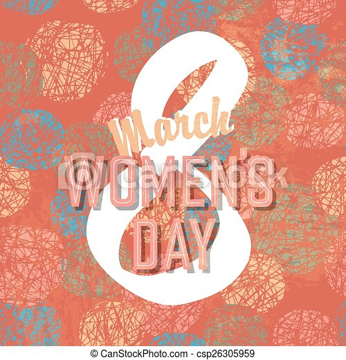 8 March, Women's Day - csp26305959