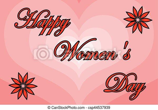 8 March - Women's Day - csp44537939
