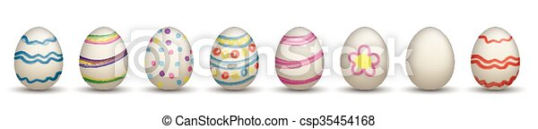 8 Nature Easter Eggs Header - csp35454168