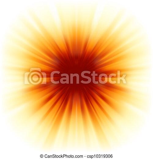 8, raggi, sunburst, eps, sunlight. - csp10319306