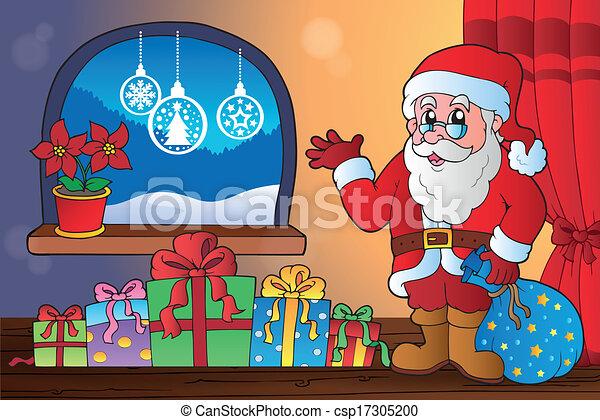 Tema de Navidad interior 8 - csp17305200