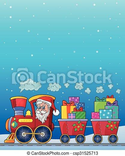 Tema del tren de Navidad 8 - csp31525713