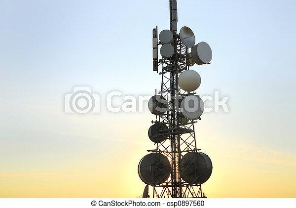 8, tour, télécommunications - csp0897560