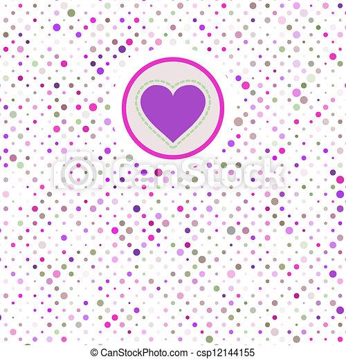 8, valentine, polka, eps, dots. - csp12144155
