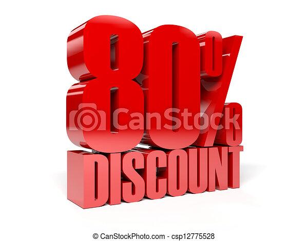 80 percent discount. - csp12775528