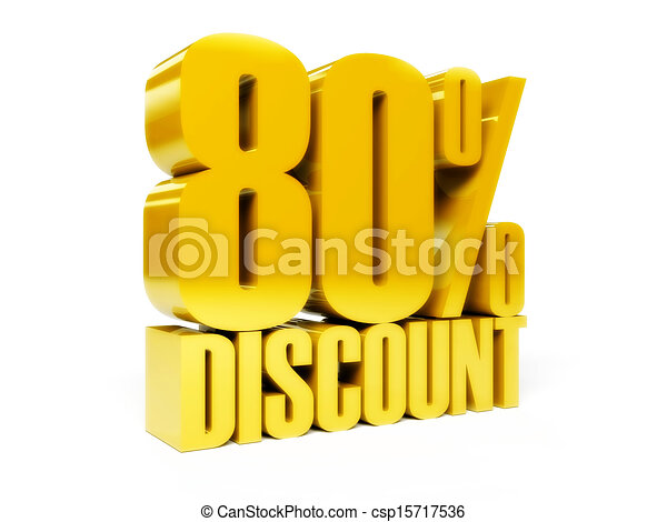 80 percent discount. - csp15717536