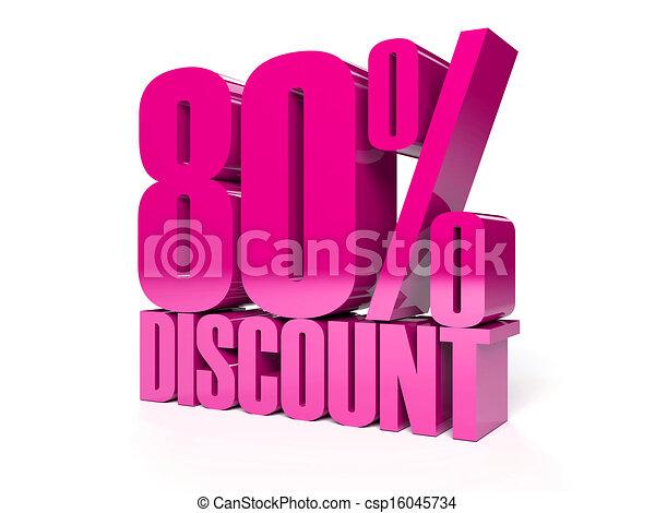 80 percent discount.  - csp16045734