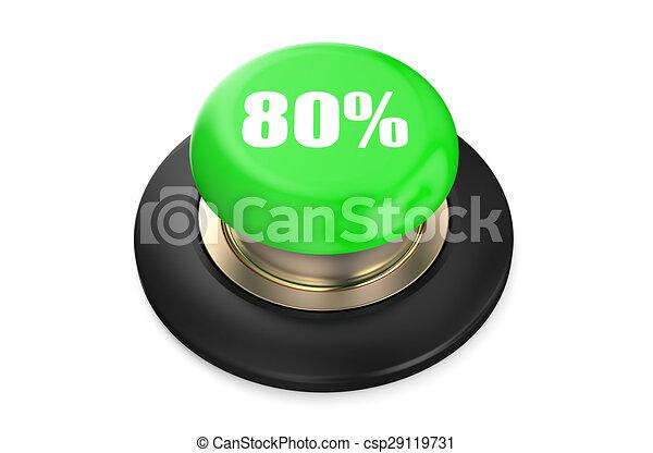 80 percent discount green button - csp29119731