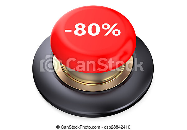 80 percent discount Red button - csp28842410