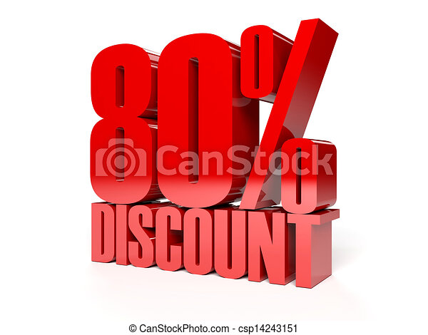 80 percent discount. - csp14243151