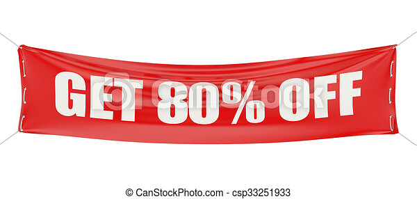 80 %, sale and discount concept  - csp33251933