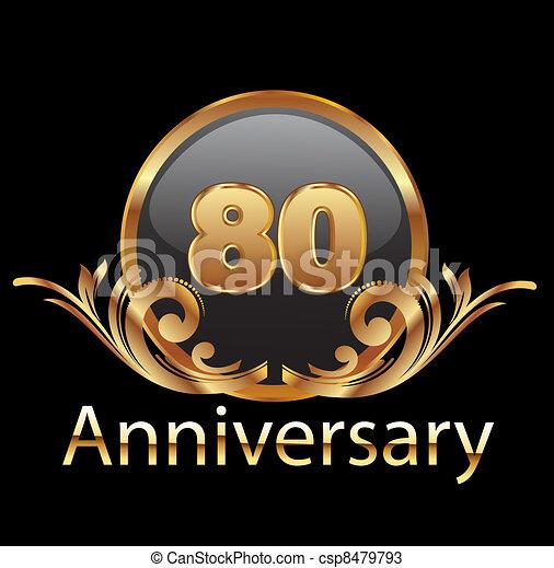 80 years anniversary birthday  - csp8479793