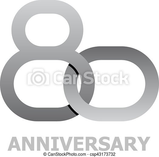 80 Years Anniversary Symbol Illustration For The Web