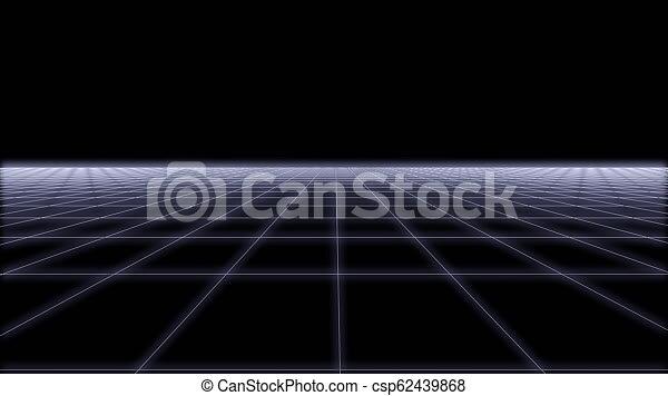 80s Retro Futurism net Background Loop 3d render