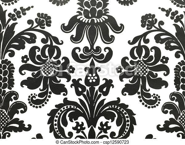 83, vit, tapet, svart. Wallpaper., skott, makro, svart ...