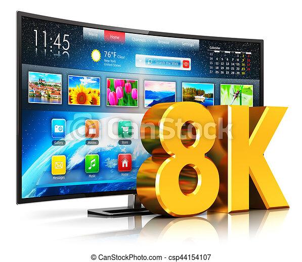 8K UltraHD curved smart TV - csp44154107