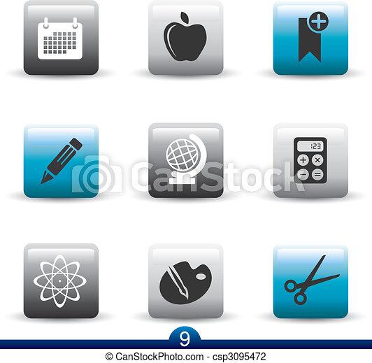 9, シリーズ, アイコン, -education - csp3095472