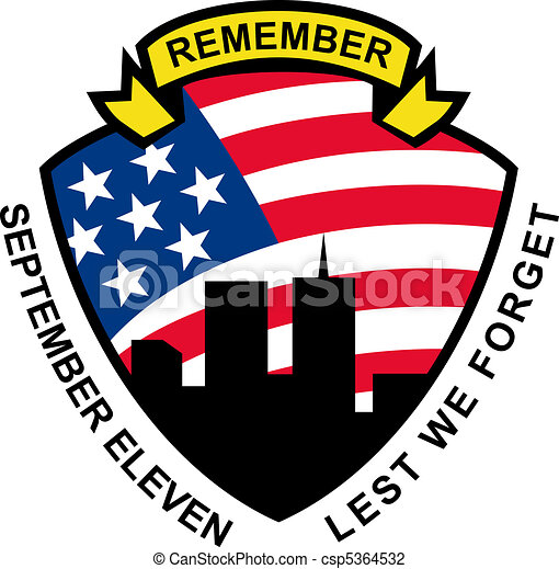 illustration of a shield with american flag stars and stripes and 9 rh canstockphoto com  september 11 remembrance clipart
