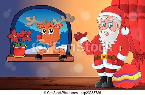 Santa Claus, escena interior 9 - csp23368736