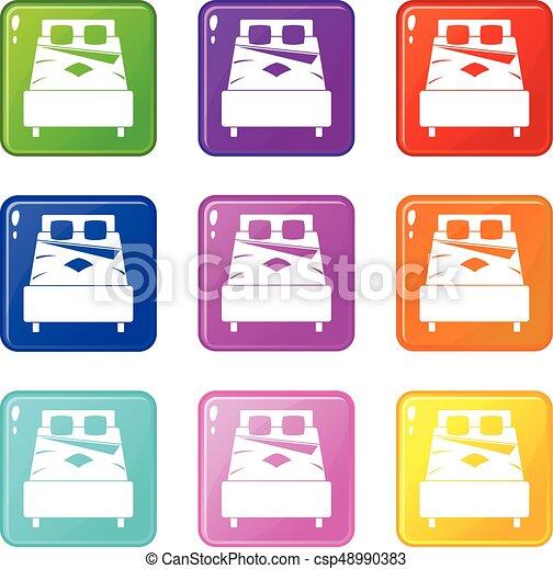 Iconos de cama 9 - csp48990383