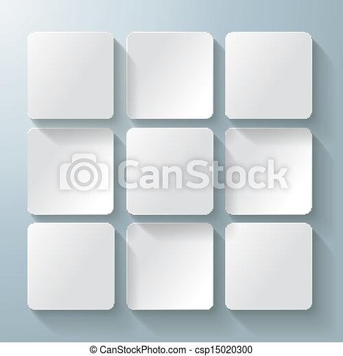 9, desig, neposkvrněný, čtverhran - csp15020300