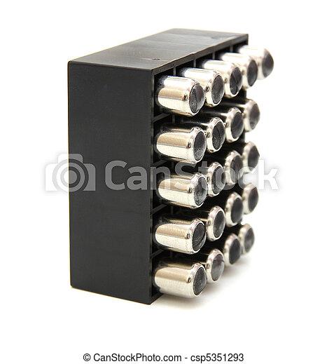 9, milímetros, pistola, cartuchos - csp5351293