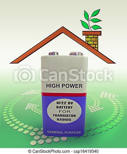 9, volt, 6f22, batterie - csp16419340